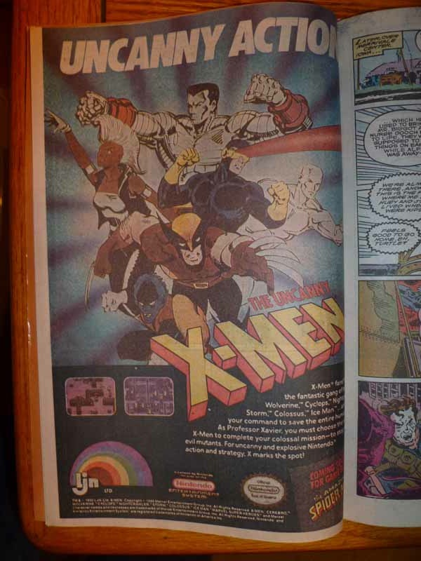 x-men nes ad