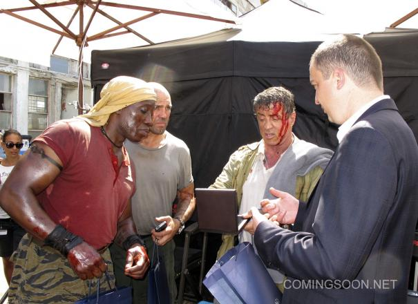 The_Expendables_3_BTS wesley snipes sylvester stallone