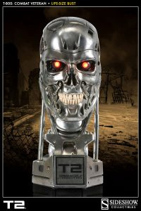 t-800 life size bust sideshow