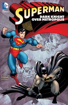 superman dark knight over metropolis