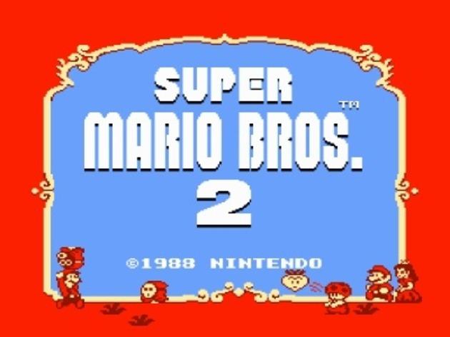 super mario bros 2 start screen